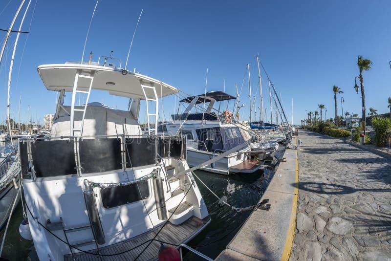 Sport portowy Marina De Las Dunas Guardamar del Segura, Alicante, obrazy royalty free
