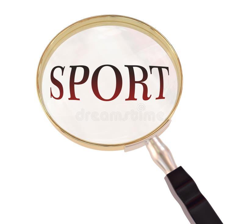 Sport powiększa royalty ilustracja