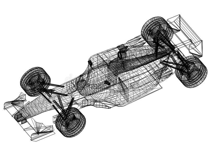Sport race car blueprint 3d perspective stock illustration download sport race car blueprint 3d perspective stock illustration illustration of blueprint design malvernweather Image collections