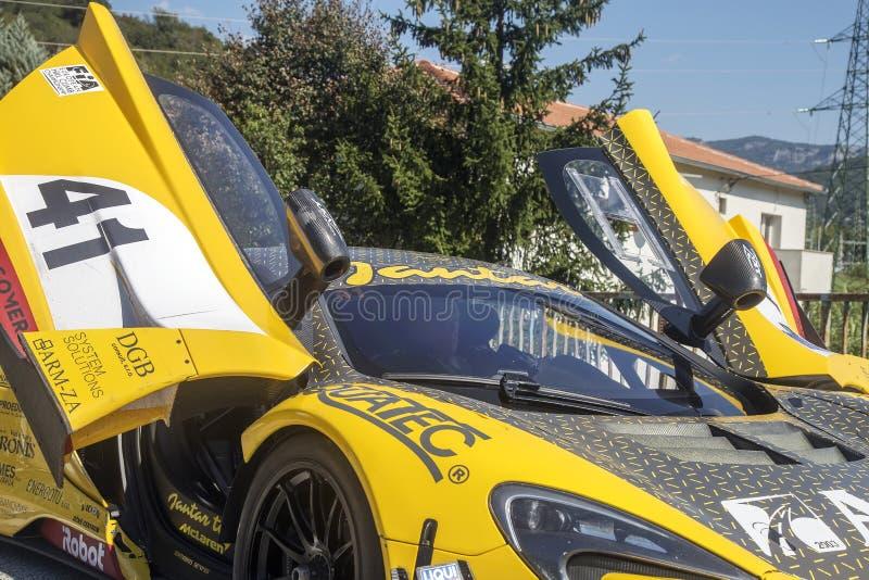 Sport racing car stock photo