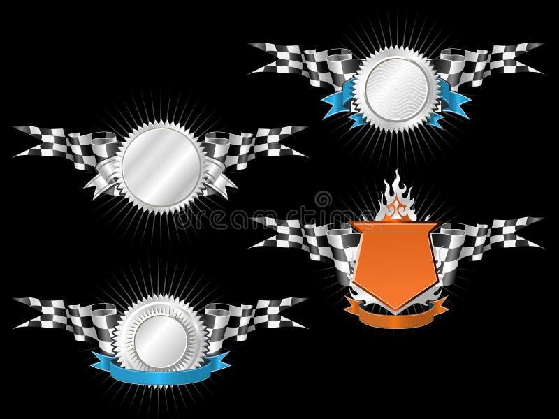 Sport-Rennen-Embleme stock abbildung
