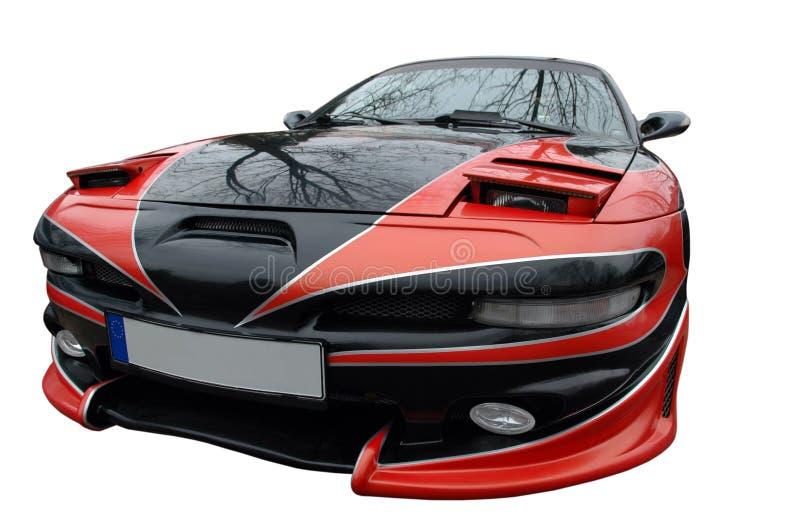 sport rouge moderne de véhicule noir photos stock
