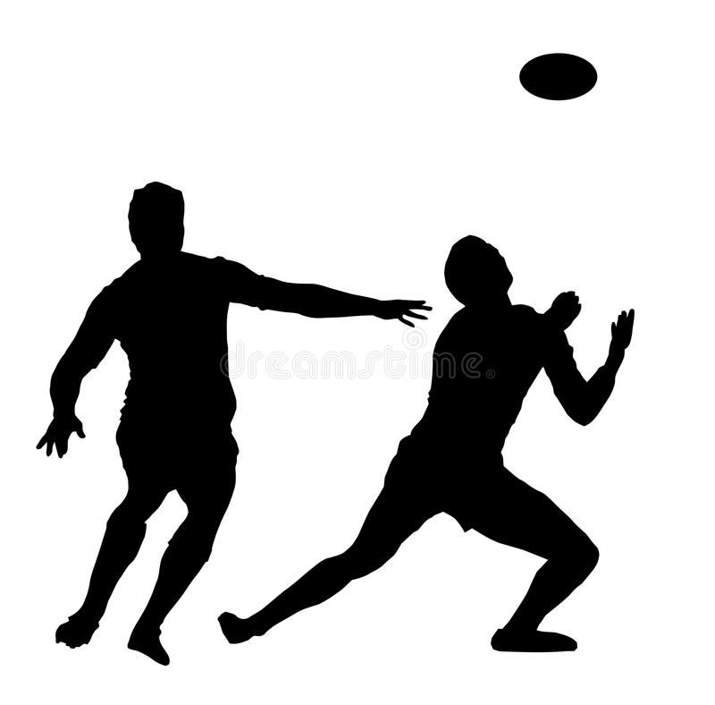 Sport - Rugby Awaiting High Ball. Sport Silhouette - Rugby Football Player Awaiting High Ball vector illustration