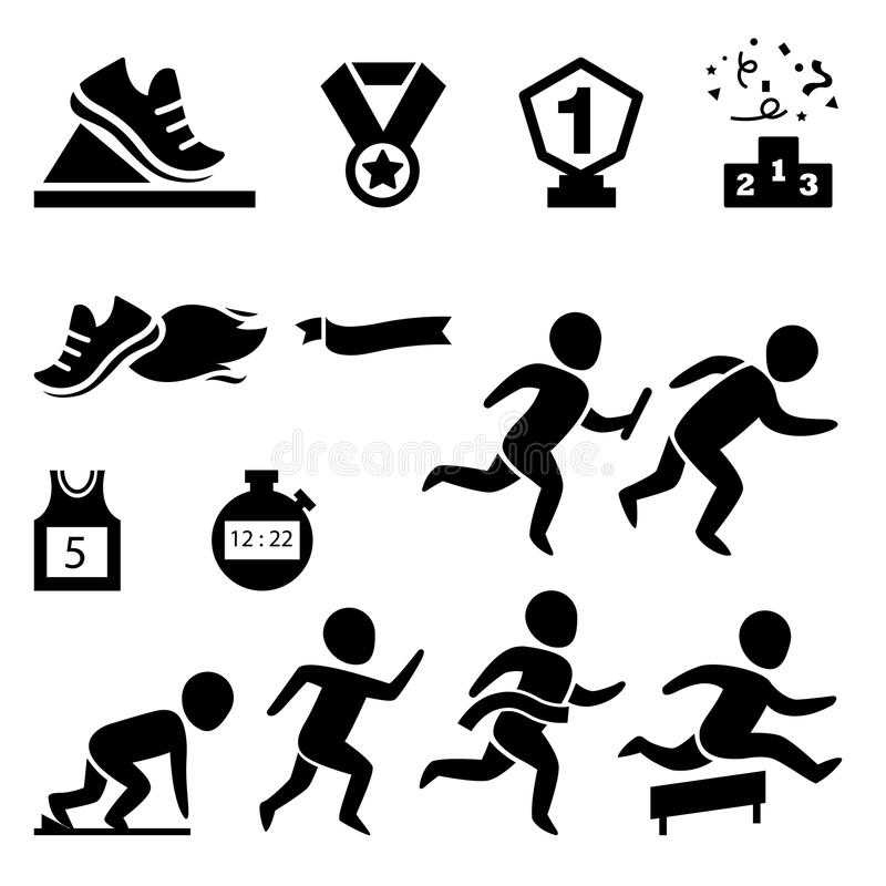 sport.runner icon royalty free illustration
