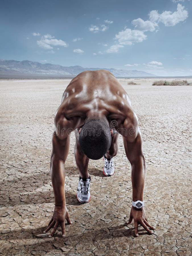 Sport. Runner royalty free stock photography
