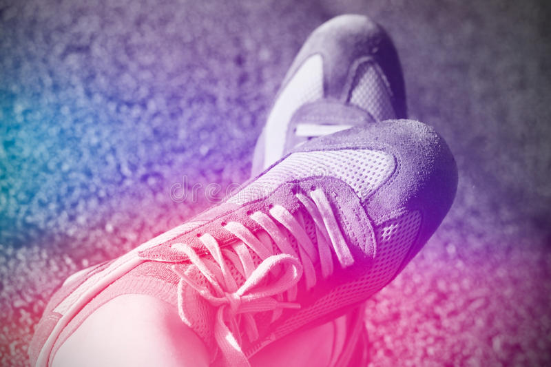 Sport running shoes royalty free stock images