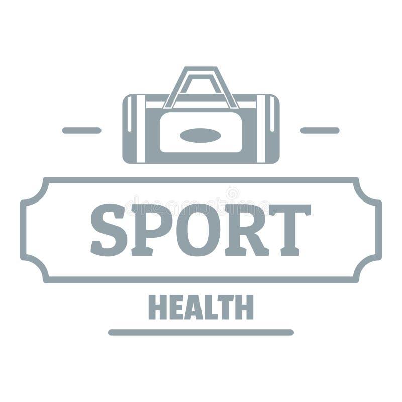 Sport sackt Logo, einfache graue Art ein vektor abbildung
