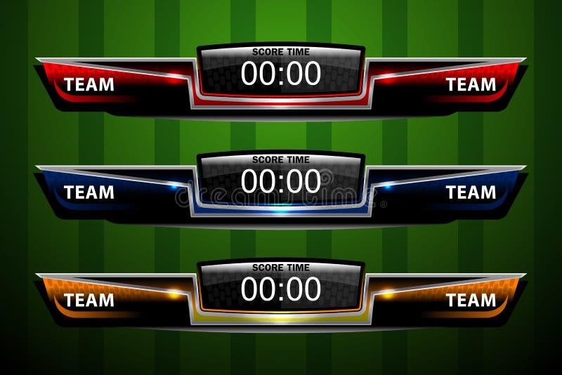 Sport Scoreboard Template Stock Vector - Image: 66895767