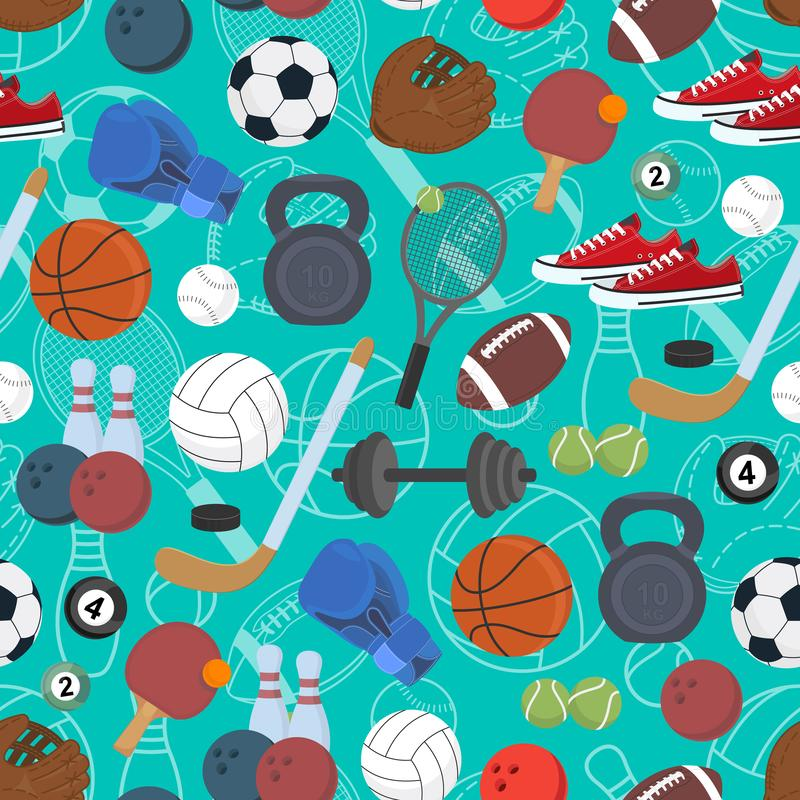 Sport. Seamless background. Healthy lifestyle. Vector illustration vector illustration