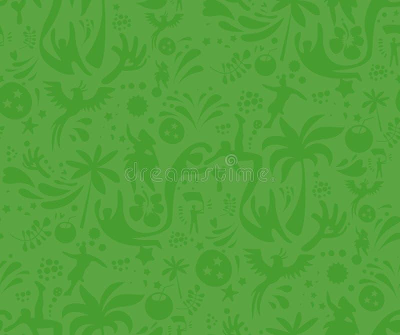 Sport senza cuciture modello verde, fondo astratto di vettore di calcio Modello senza cuciture incluso in campione royalty illustrazione gratis