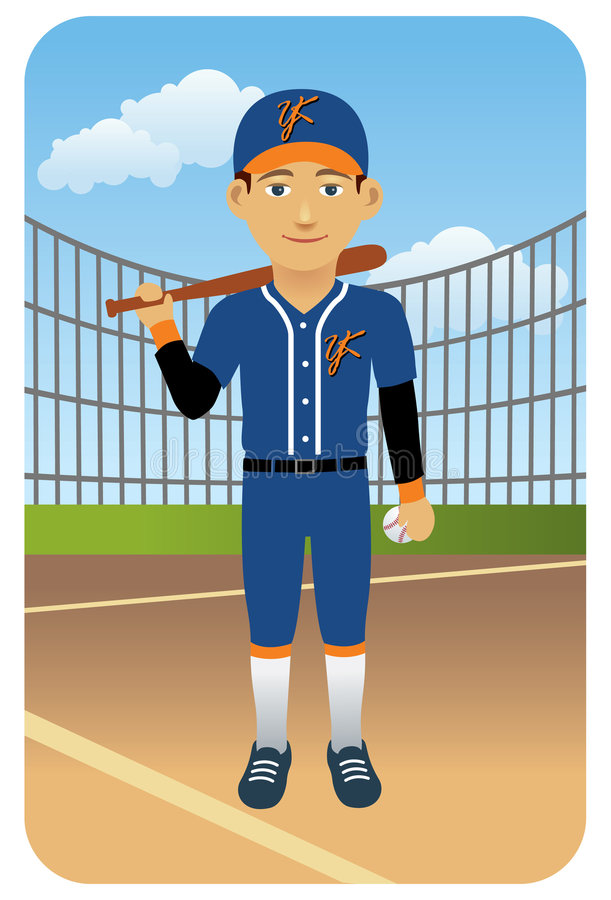 Download Sport Series: Baseball Player Stock Vector - Image: 8536471
