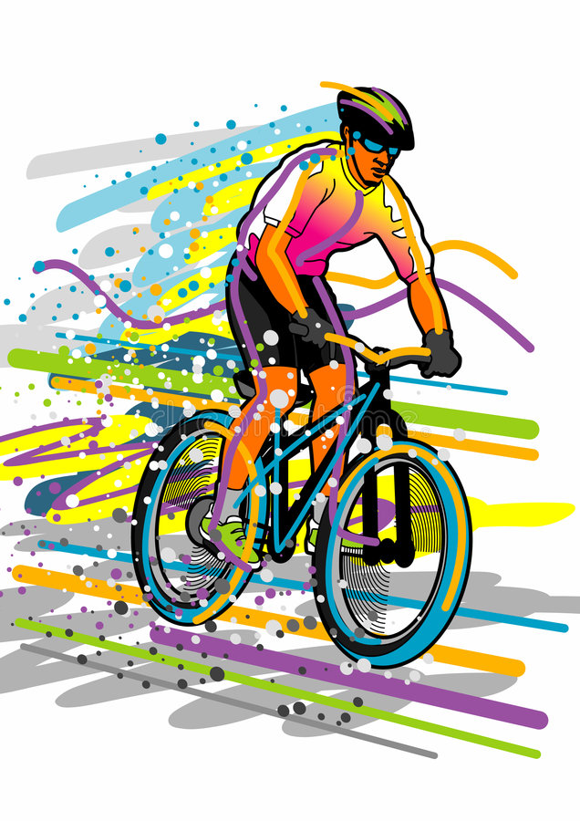Sport Series: Bicyclist Stock Image
