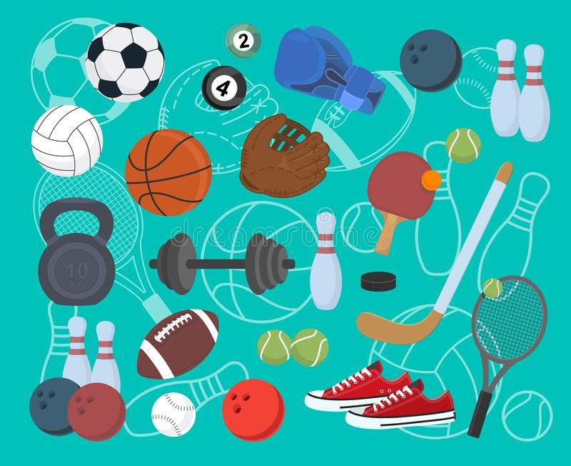 Sport. Set of icons. Vector stock illustration vector illustration