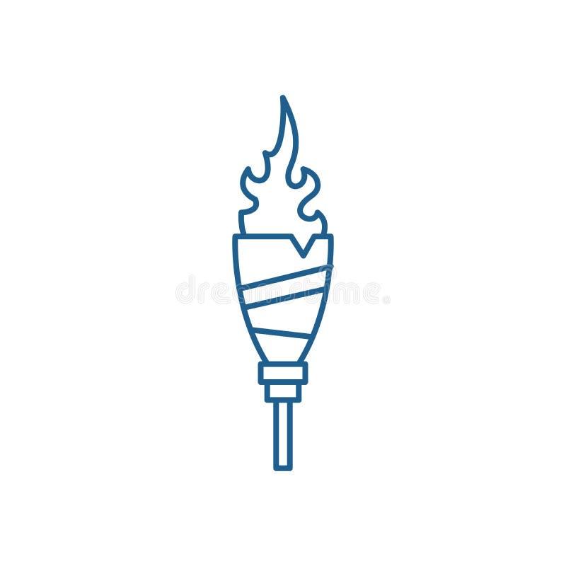 Sport setzt Linie Ikonenkonzept in Brand Sport setzt flaches Vektorsymbol, Zeichen, Entwurfsillustration in Brand stock abbildung