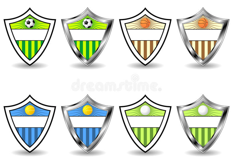 Download Sport shields set stock vector. Illustration of ball - 10119515