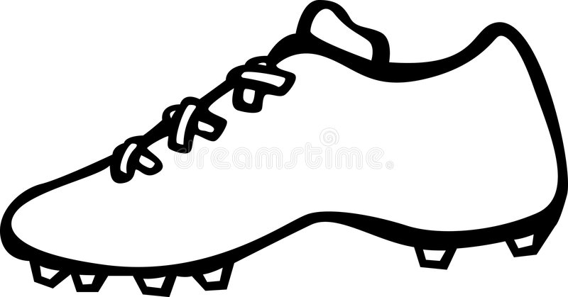 sport shoe with cleats vector illustration stock vector shoe print clipart shoe print clip art free printables