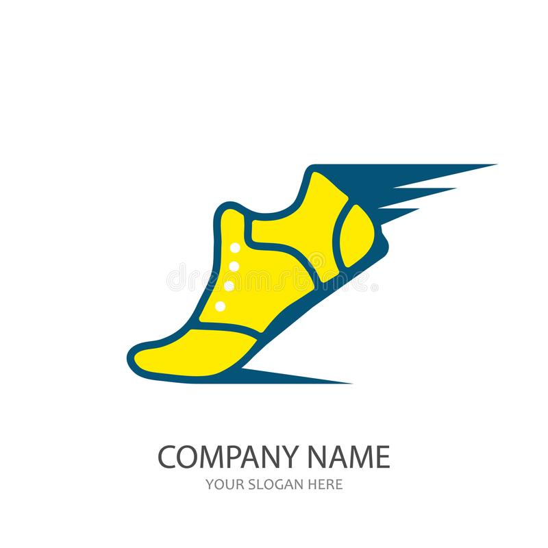 sport shoe icon or logo vector illustration stock vector rh dreamstime com yellow shoe with wings logo name yellow and blue shoe with wings logo name
