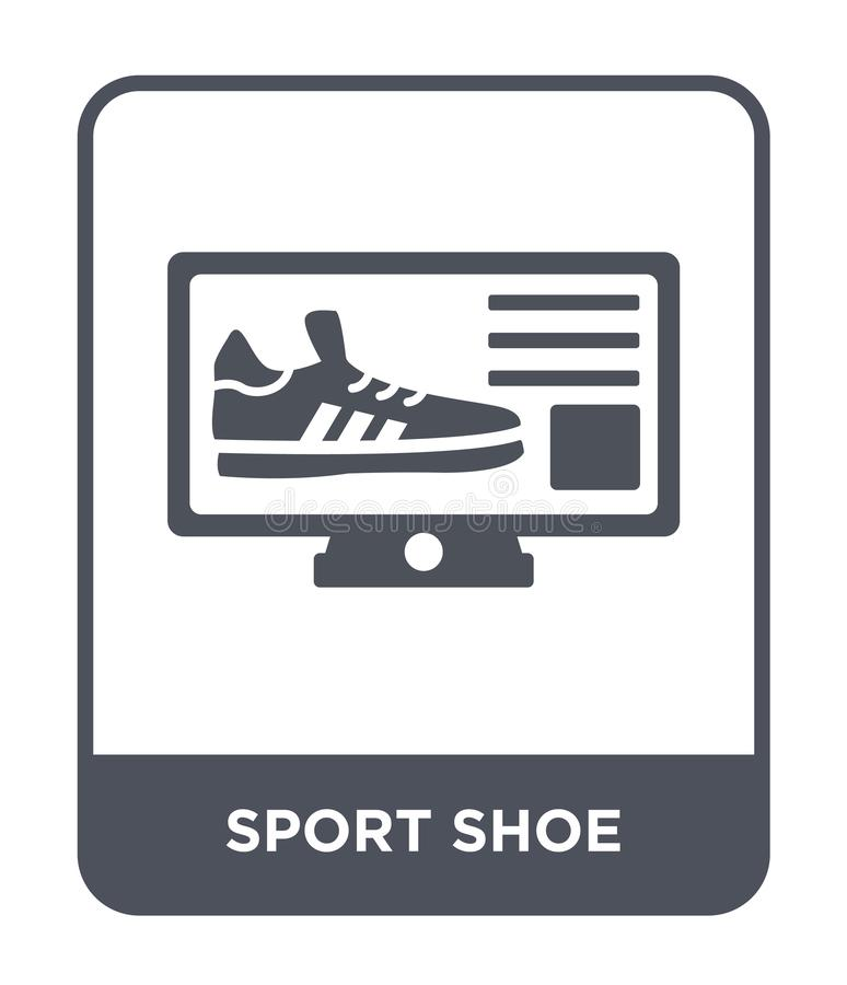 sport shoe icon in trendy design style. sport shoe icon isolated on white background. sport shoe vector icon simple and modern vector illustration