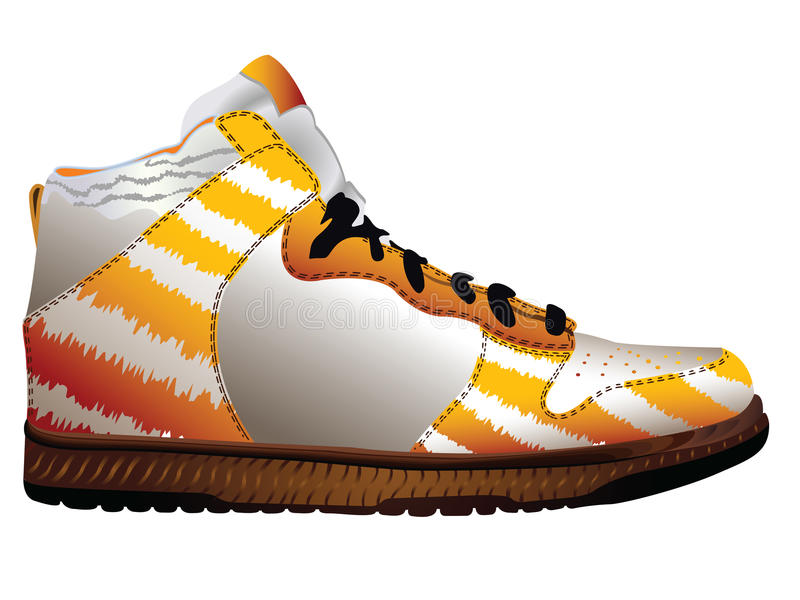Download Sport Shoe Over White Royalty Free Stock Image - Image: 15995066