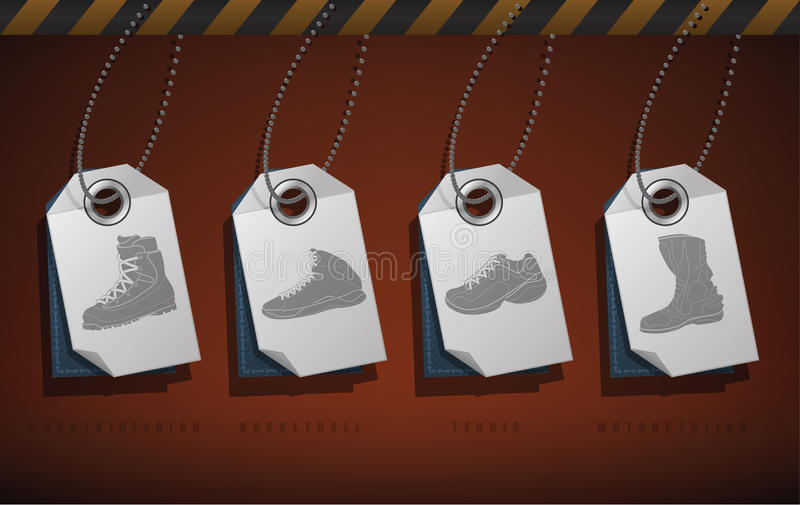 Sport Shoes royalty free illustration