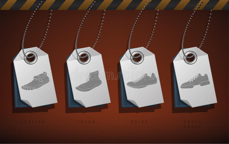 Sport Shoes stock illustration