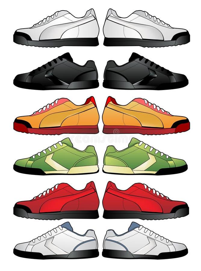 Download Sport shoes illustration stock vector. Image of foot, heel - 9319935