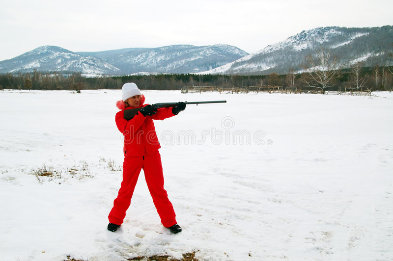 Sport shooting royalty free stock photography