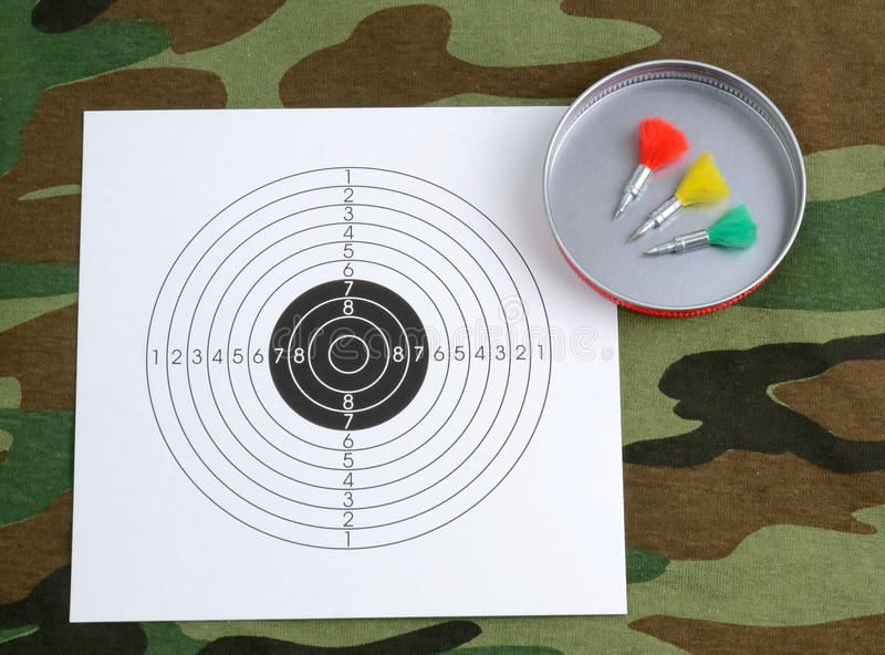 Sport shooting objects stock image
