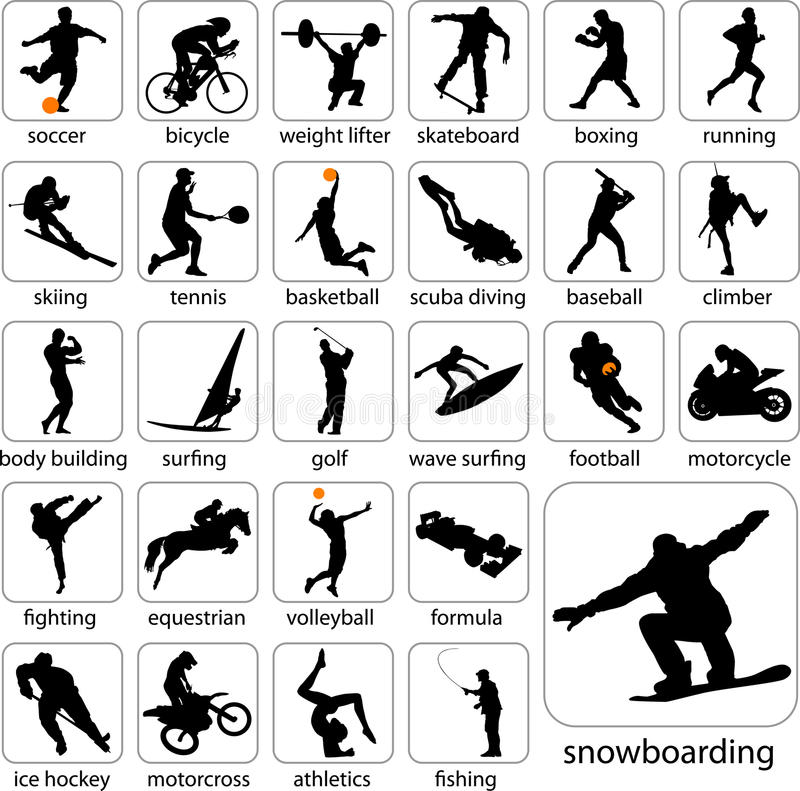 Download Sport silhouettes stock vector. Image of scuba, diving - 11955865