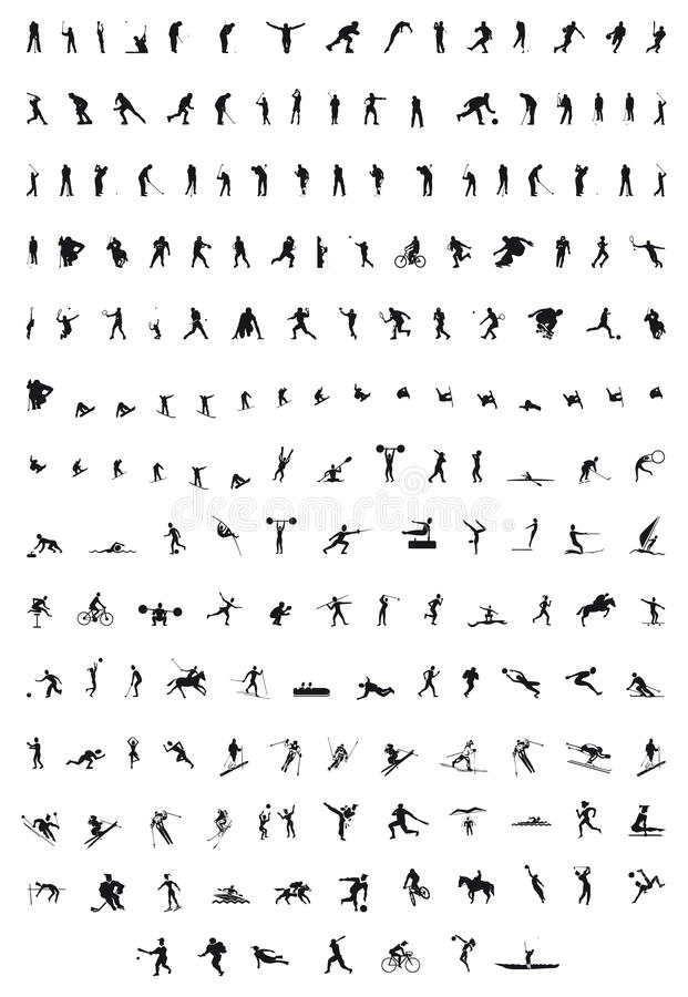 Sport Silhouettes Royalty Free Stock Photos