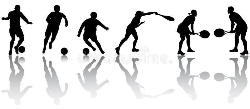 Sport silhouettes stock illustration