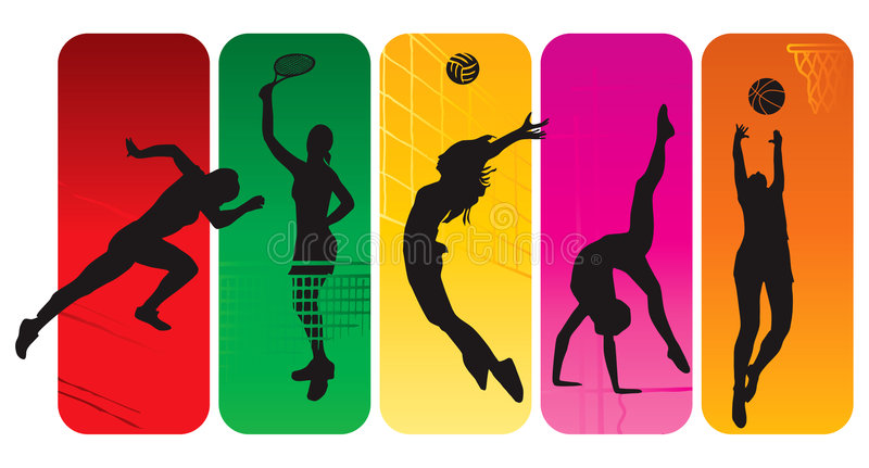 Download Sport silhouettes stock vector. Image of modern, lines - 6037982
