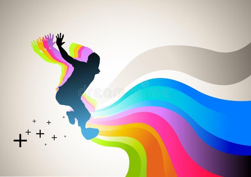 sport skoku ilustracji