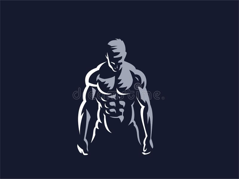Sport. Sporty and athletic man. Muscular body. Vector illustration stock illustration