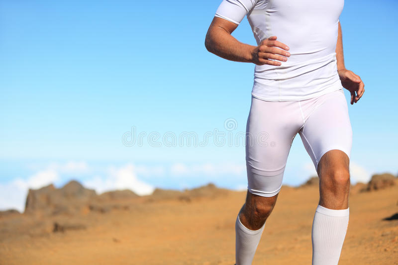 Sport sprawności fizycznej biegacza bieg obraz royalty free