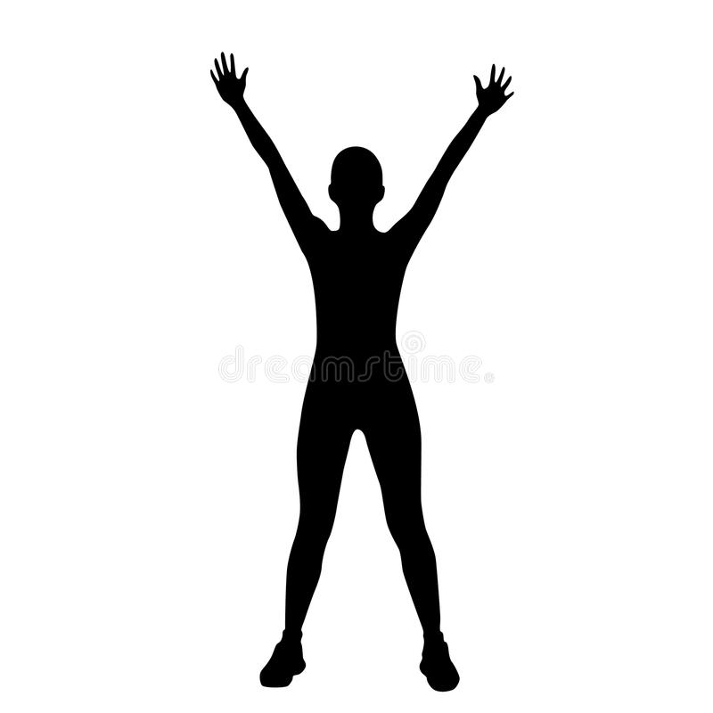 Sport sprawności fizycznej kobiety ćwiczenia treningu sylwetki royalty ilustracja