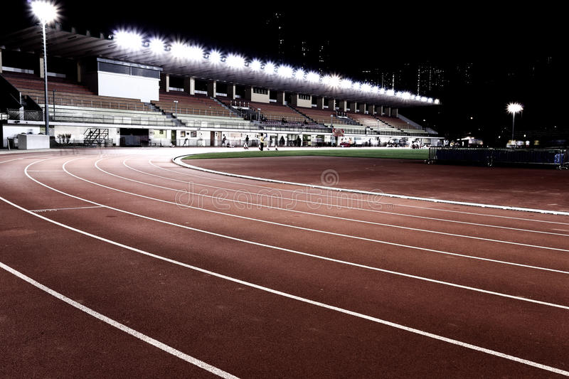 Sport stadium. In the night stock images