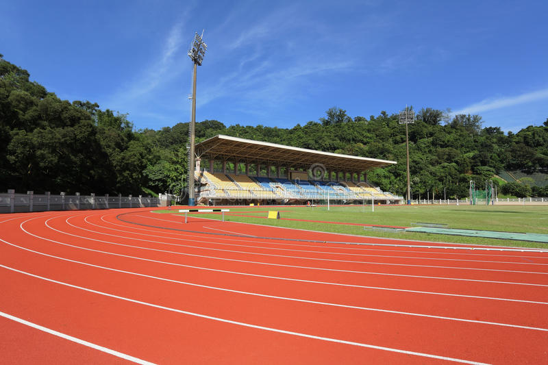 Sport stadium. With sport field royalty free stock photos