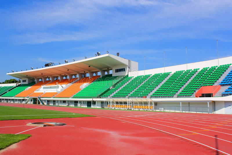 Sport stadium. A Sport stadium track and field royalty free stock images