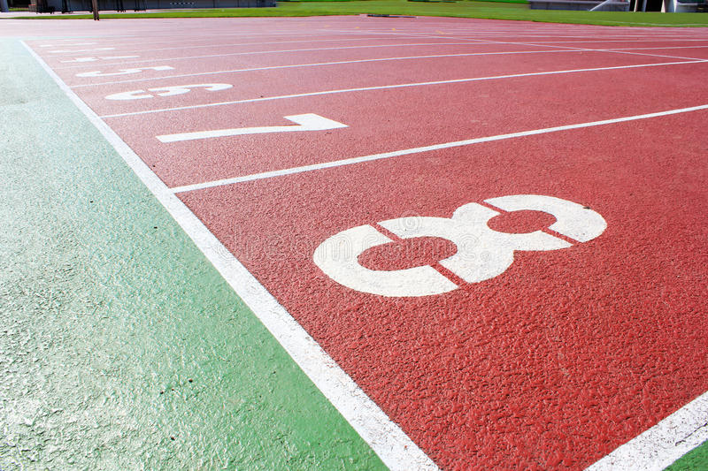 Sport stadium. A Sport stadium track and field stock photography