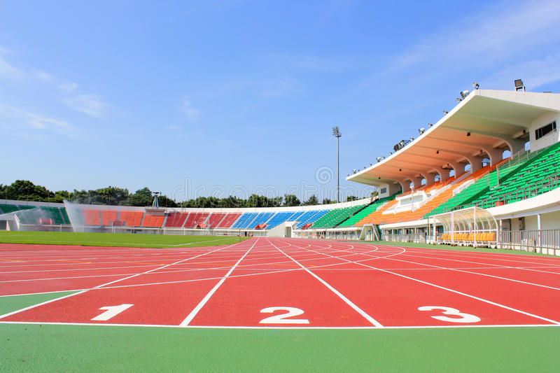 Sport stadium. A Sport stadium track and field royalty free stock photography