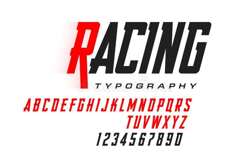 Sport style modern font stock illustration