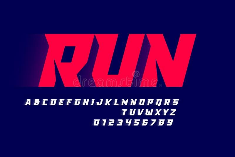 Sport style modern font vector illustration