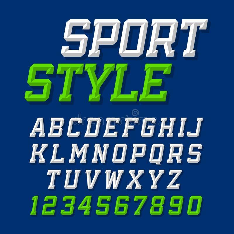 Sport style typeface vector illustration