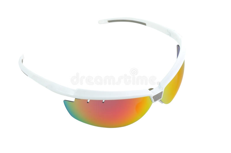 Sport sunglasses top view royalty free stock image