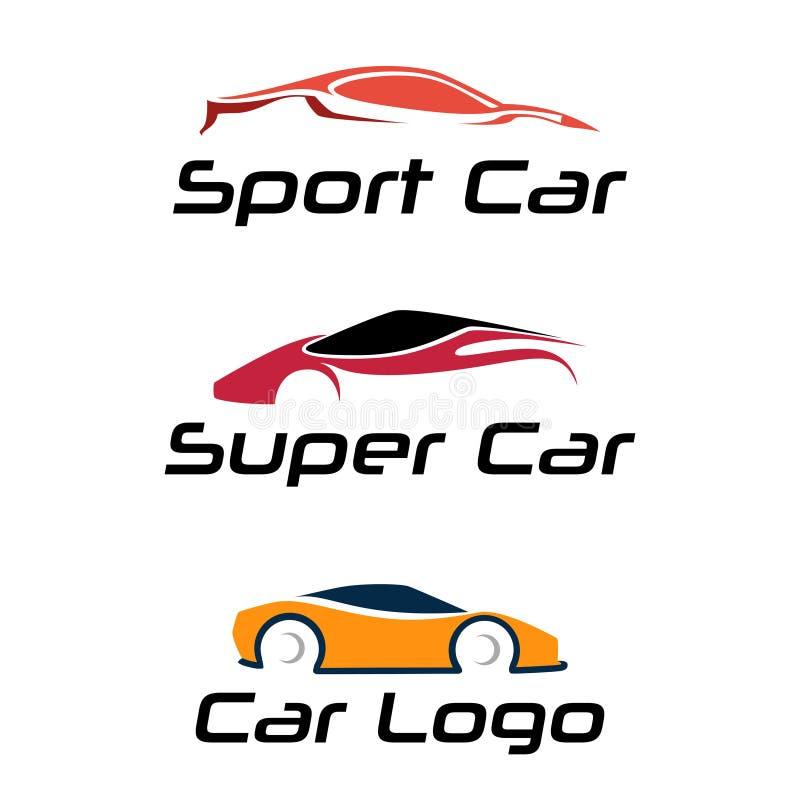 Sport-Superauto-Automobilclub Logo Design Collection vektor abbildung
