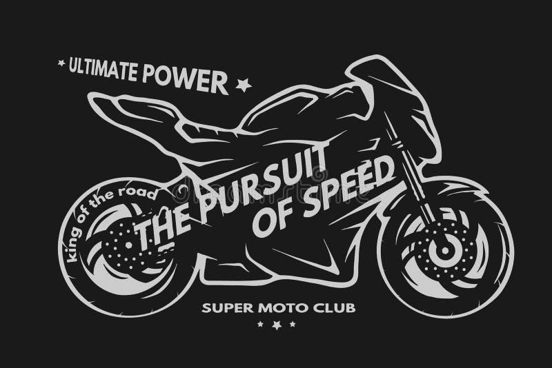 Sport superbike motorfiets stock illustratie