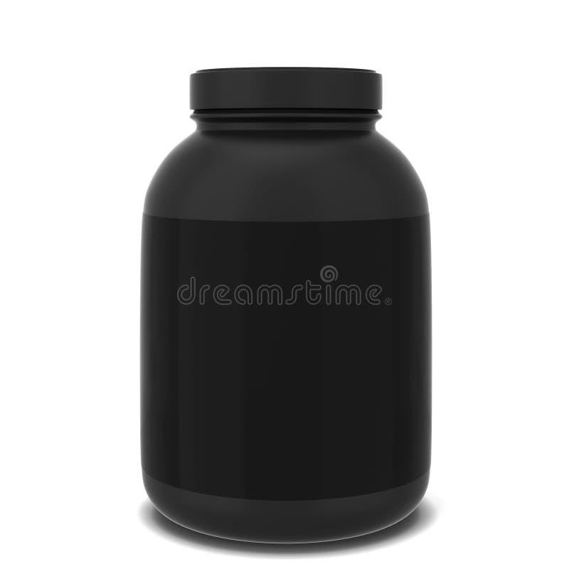 Sport supplement jar. 3d illustration isolated on white background vector illustration