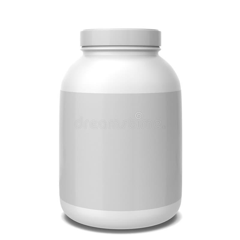 Sport supplement jar. 3d illustration on white background stock illustration