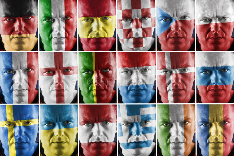 Sport supporter collage stock photo